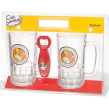 Simpsons Bierglas-Set mit sprechendem Öffner Simpsons Motiv: Drink Beer 540 ml