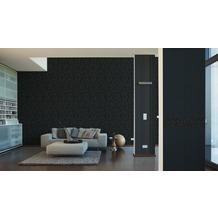 "My home by Raffi Mustertapete ""Rose"", Vliestapete, schwarz 10,05 m x 0,53 m"