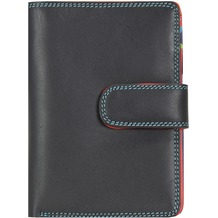 Mywalit Medium Snap Wallet Geldbörse Leder 13 cm black/pace