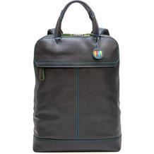 Mywalit Slim Backpack Rucksack Leder 40 cm Laptopfach black/pace