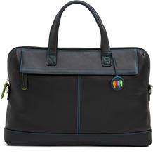 Mywalit Slim Office Aktentasche Leder 40 cm Laptopfach black/pace