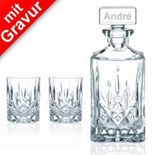 Nachtmann Whisky-Set Noblesse 3tlg. MIT GRAVUR (z.B. Namen) Karaffe + 2 Whiskygläser