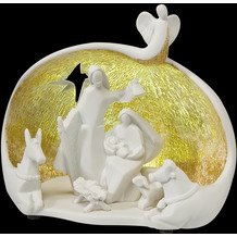 NADAL Krippe Szene Enchanted Night 17,0 cm