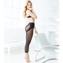 Naomi & Nicole Miederhose Hose mit langem Bein Body Shaper Bauchweg Unterhose Figurformende Wäsche Schwarz L (42)