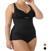 Naomi & Nicole Torsette Camisole Unterhemd Bauchweg Body Shaper Shaping Unterwäsche Figurformende Wäsche Schwarz 1X (48)