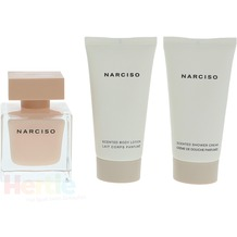 Narciso Rodriguez Narciso Poudree Giftset Edp Spray 50ml/Shower Gel 50ml/Body Lotion 50ml 150 ml
