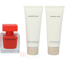 Narciso Rodriguez Narciso Rouge Giftset Edp Spray 50ml/Body Lotion 75ml/Shower Gel 75ml 200 ml