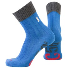 NC56 socks rib strong blue, 35-38