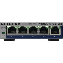 NETGEAR GS105E-200PES 5 Port Gigabit Web Managed Switch