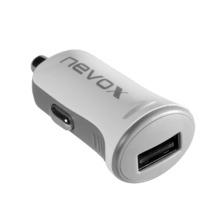 nevox Kfz Ladegerät USB - 2.4A, weiß