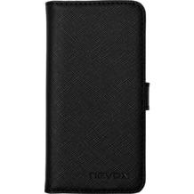 nevox ORDO Booktasche für Apple iPhone 5/5S/SE, schwarz-grau