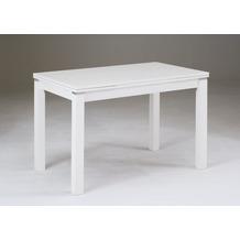 Niehoff Ausziehtisch weiß lackiert 110 (170) x 70 cm, H 76 cm zwei Auszüge à 30 cm
