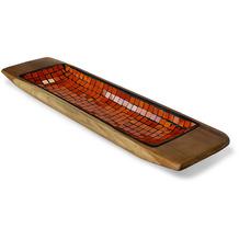 Niehoff Dekoschüssel MOSAIK 60x14x5cm Teak geschliffen innen mit Glas-Mosaik-Einlage orange koloriert