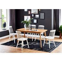 Niehoff Design-Tisch HARLEM 180x90cm Bootsform Wildeiche massiv geölt, Platte parkettverleimt, 27 mm Holzverlauf längs