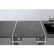 Niehoff Garden Ablage OUTDOOR-KÜCHE HPL Beton Verbindet den Grill-Wagen und Spül-Wagen zu einer Küchenzeile 54x47,5cm