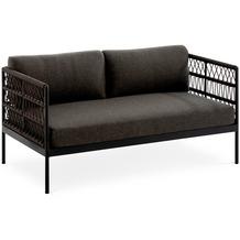 Niehoff Garden Loungegruppe AZURI 2-Sitzer Sofa mit Armlehnen Aluminium, Farbton anthrazit 145x80 / 71cm