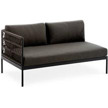 Niehoff Garden Loungegruppe AZURI Modul links mit Armlehne links Aluminium, Farbton anthrazit 142,5x80 / 71cm
