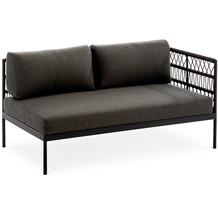 Niehoff Garden Loungegruppe AZURI Modul rechts mit Armlehne rechts Aluminium, Farbton anthrazit 142,5x80 / 71cm