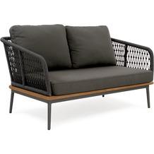 Niehoff Garden Loungegruppe FREEPORT 2-Sitzer Gestell Aluminium pulverbeschichtet, Farbton anthrazit