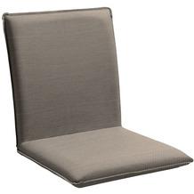 Niehoff Garden Sitzschale NETTE Sitz und Rücken in Sunbrella Natte, beschichtet Carbon beige 45x47x62cm