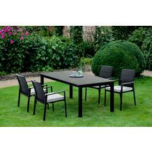 Niehoff Garden Tisch NELSON HPL Granit Gestell 4-Fuss mit Zargen Aluminium pulverbeschichtet anthrazit 173x95 /76cm