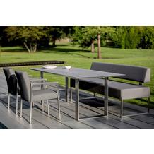 Niehoff Garden Tisch NOAH Tischplatte HPL Beton Gestell Profilkufe Edelstahl 200x95 / 76cm