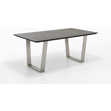Niehoff Garden Tisch NOAH Tischplatte HPL Beton Gestell Trapezkufe Edelstahl 180x95 / 76cm