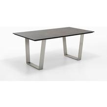 Niehoff Garden Tisch NOAH Tischplatte HPL Beton Gestell Trapezkufe Edelstahl 220x95 / 76cm