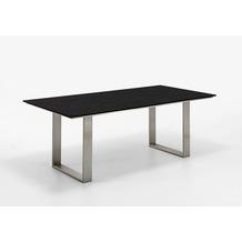 Niehoff Garden Tisch NOAH Tischplatte HPL Granit Gestell Profilkufe Edelstahl 200x95 / 76cm