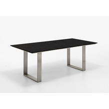 Niehoff Garden Tisch NOAH Tischplatte HPL Granit Gestell Profilkufe Edelstahl 220x95 / 76cm
