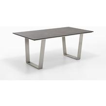 Niehoff Garden Tisch NOAH Tischplatte HPL Granit Gestell Trapezkufe Edelstahl 200x95 / 76cm