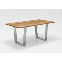 Niehoff Garden Tisch NOAH Tischplatte Teak massiv gebürstet Gestell Trapezkufe Edelstahl 160x95 / 76cm