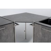 Niehoff Garden Winkelablage OUTDOOR-KÜCHE HPL Beton Verbindet den Grill-Wagen und Spül-Wagen zu einer Küchen Eckzeile 82x82cm