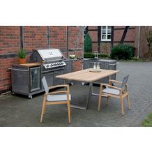 Niehoff Garden Winkelablage OUTDOOR-KÜCHE HPL Granit Verbindet den Grill-Wagen und Spül-Wagen zu einer Küchen Eckzeile 82x82cm