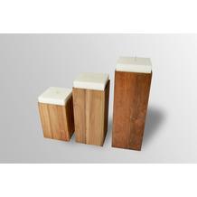 Niehoff Kerzenständer 35x35cm Teak massiv recycled Höhe 70cm
