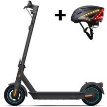 Ninebot by Segway KickScooter MAX G30D + Lumos Kickstart Helm schwarz