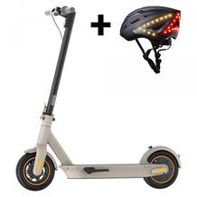 Ninebot by Segway KickScooter Max G30LD + Lumos Kickstart Helm schwarz