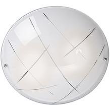 Nino Leuchten Deckenleuchte Glas weiß 2-flg. MOTIVA 63890207
