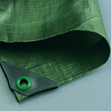 NOOR Abdeckplane Hobby 120g/m² Gewebeplane ca. Größe 2x2 m Farbe grün