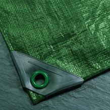 NOOR Abdeckplane Super 200g/m² Gewebeplane ca. Größe 2x2 m Farbe grün