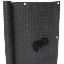 NOOR Balkonblende Exklusiv Rattan 0,90 x 3 m / schwarz