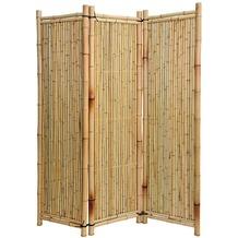 NOOR Bambus Paravent Deluxe Sichtschutz Bambusparavent ca. Größe (HxB) 120 x 180 cm 3-teilig