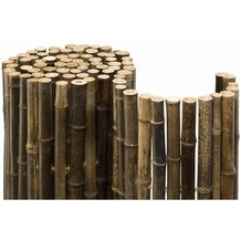 NOOR Bambusmatte Black Bambus Sichtschutz Zaun Balkon ca. Größe (HxB) 1,50x2,50 m