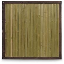 NOOR Bambuszaun Bali mit Holzrahmen Bambus Zaun ca.Größe (HxB) 120 x 120 cm