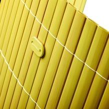 NOOR Befestigungskit für PVC Sichtschutzmatten 26 Stück Farbe bambus