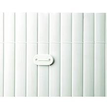 NOOR Befestigungskit für PVC Sichtschutzmatten 26 Stück Farbe weiß