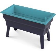 NOOR Hochbeet Calipso 81x39x50cm 7 Liter Wasserspeicher Farbe türkis