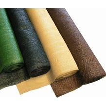NOOR Schattiergewebe Schattiernetz Sonnenschutz 100% ca. Größe 1,00x10 m Farbe beige