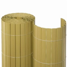 NOOR Sichtschutzmatte PVC Sichtschutz Kunststoff ca. Größe 0,90x3 m Farbe bambus