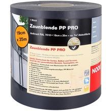 NOOR Sichtschutzstreifen PP Zaunblende PRO 0,19x35 m Farbe anthrazitgrau (RAL 7016)
